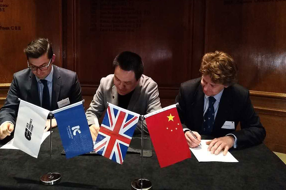 Kuang-Chi & Gilo Industries Group Celebrate Investment Partnership at London Signing Ceremony